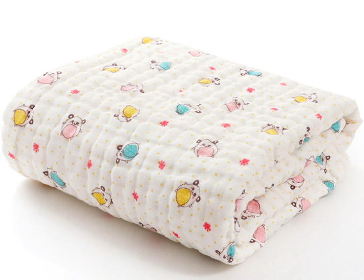 Organic Muslin Baby Towel Cotton Gauze Super Soft Baby Bath Towel 6 Layers Infant Towel Newborn Blanket Suitable for Baby's Deli