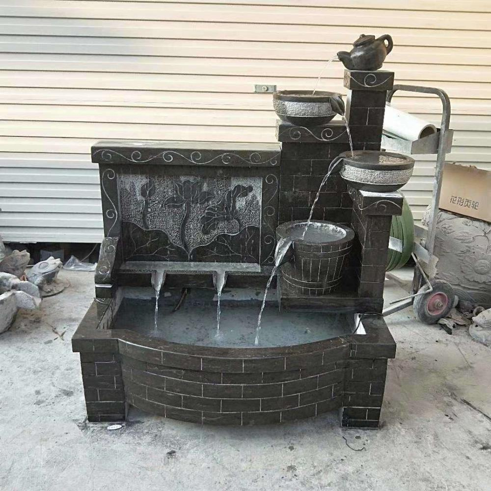 Granite Outdoor Modern Water Fountain With Fancy Design