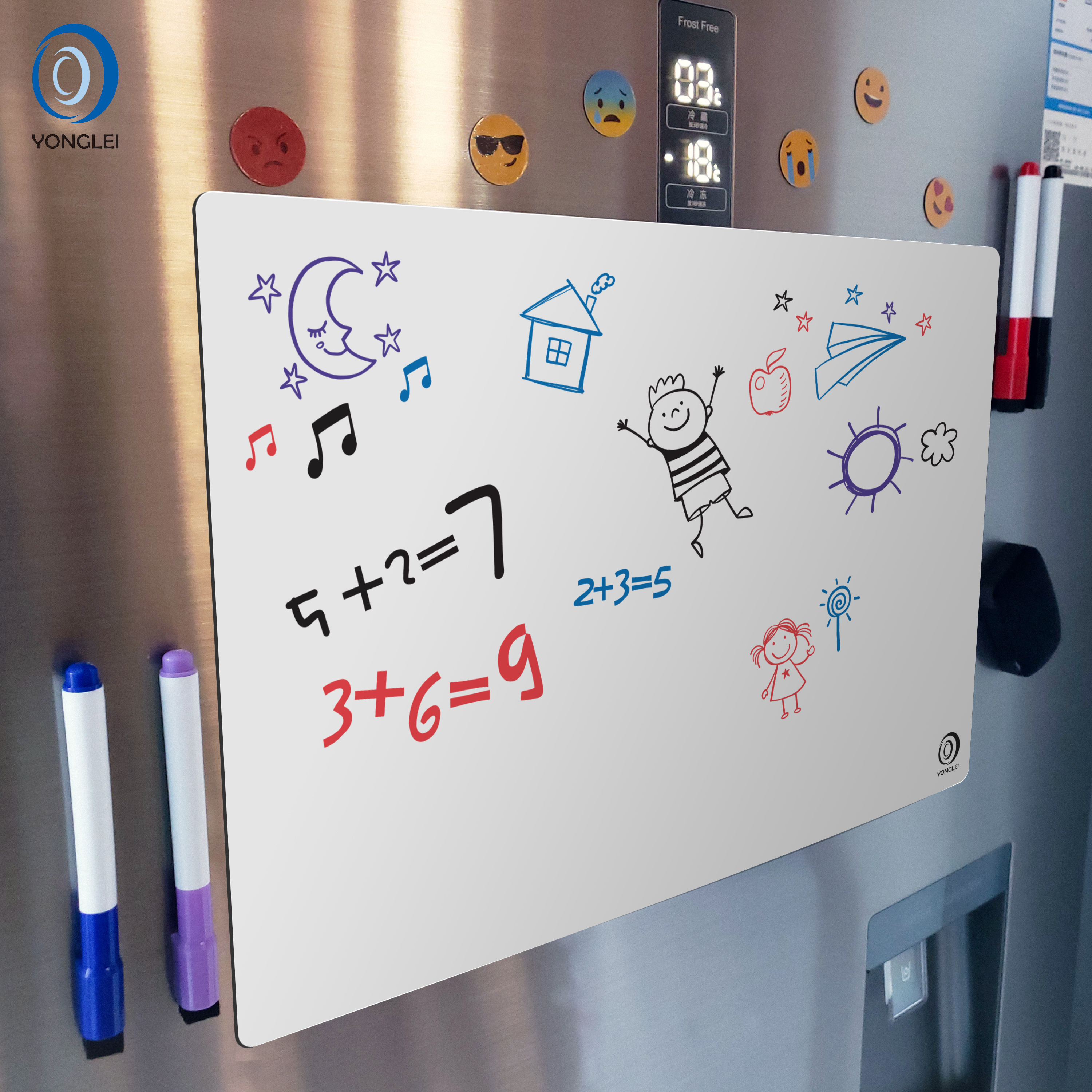 7.9-8A2 Dry erase magnetic whiteboard fridge magnet white board fridge