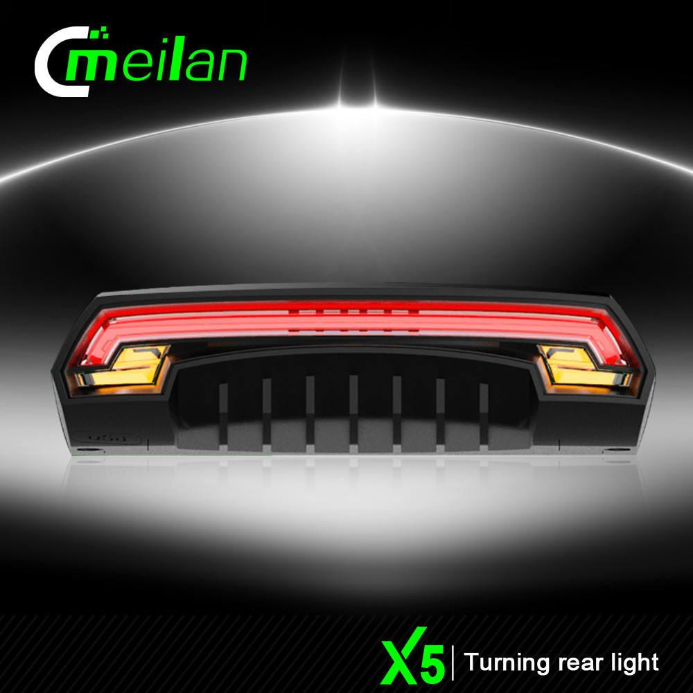 Meilan <span class=keywords><strong>LEVOU</strong></span> Transformar a Luz do <span class=keywords><strong>Sinal</strong></span> para Bicicleta <span class=keywords><strong>Mochila</strong></span> USB Recarregável Luz Traseira