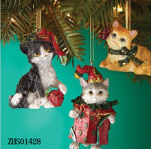 New Christmas decoration, christmas wall hanging decorations, with cat design hanging ornaments