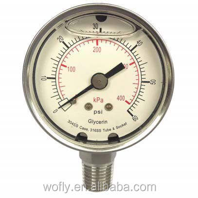 Rvs mbar lage manometer