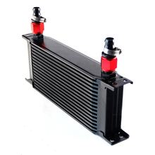 Universal Oil Cooler 16 Row AN10 Engine Transmission Oil Cooler Cooling Straight Fittings