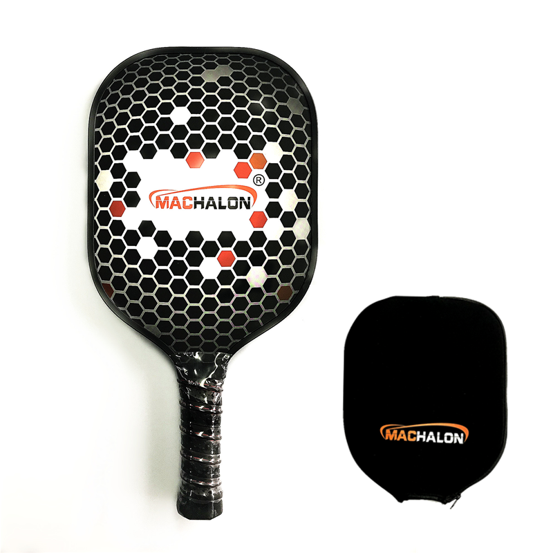 Lichtgewicht polypropyleen honingraat composiet core graphite pickleball paddle <span class=keywords><strong>racket</strong></span> met rubber randen guard 8.6 oz