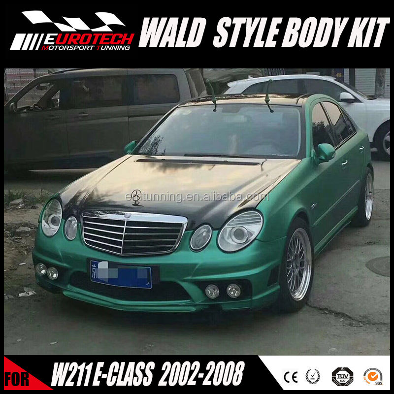 Top quality wd style FRP material bodykit for benz W211 E class sedan 2002-2008