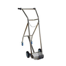 Cylinder Trolley Gas Bottle Cart Stainless Steel Hand Truck Medical Oxygen Bottle Carrier Trolley
