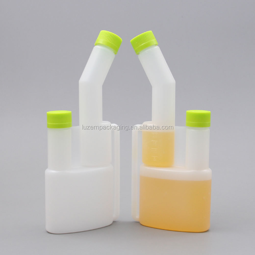 120ml Oil Mixing Dual Chamber Plastic Bottle With Pump Dispenser