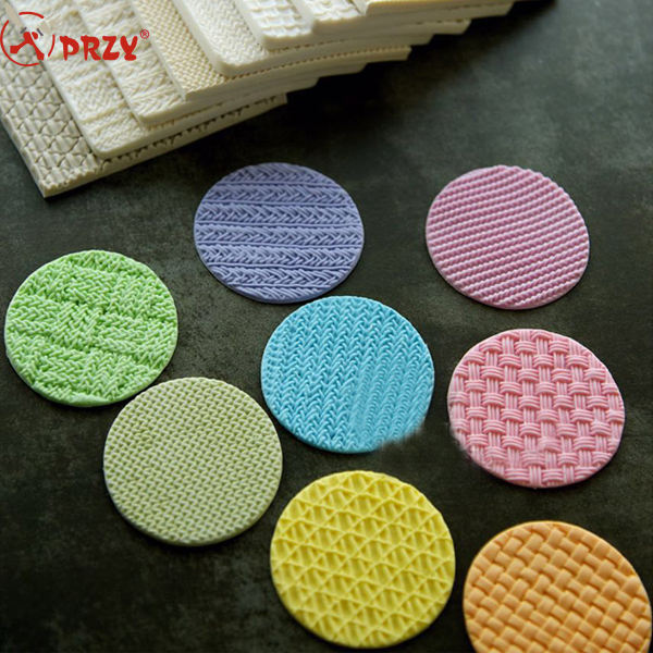 knitting shape fondant mold silicone molds for cake decorations 8 types Printing pad mold