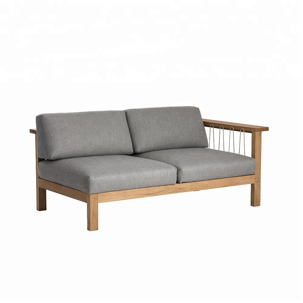 High Quality [ Outdoor Couch ] High Quality Outdoor Funiture Hotel Teak Wood Couch Sofa