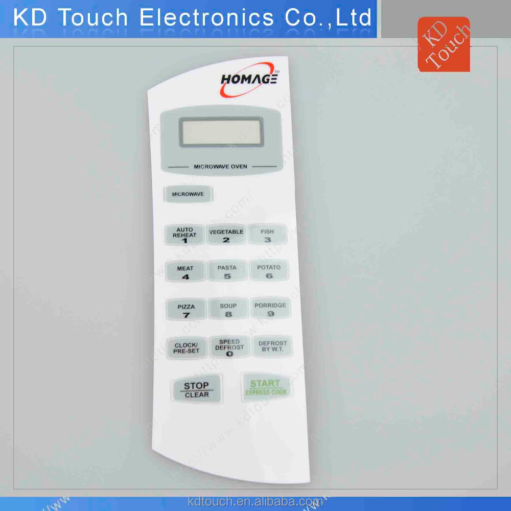 Microwave oven control panel membran switch keyboard