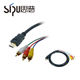 SIPU Factory supply cable ypbpr to hdmi bulk hdmi cable 3 5mm jack audio hdmi cable