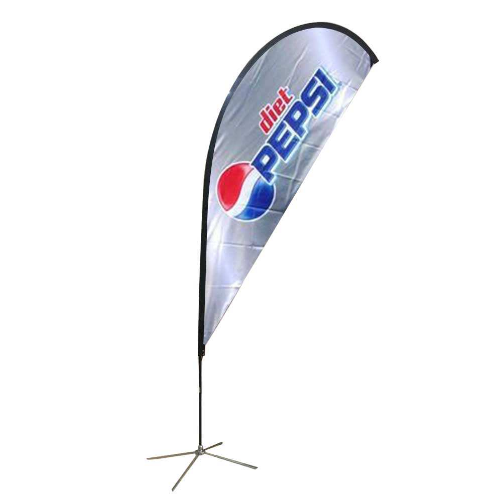 Beach flag banner printing, custom flag banner printing service advertising beach flag