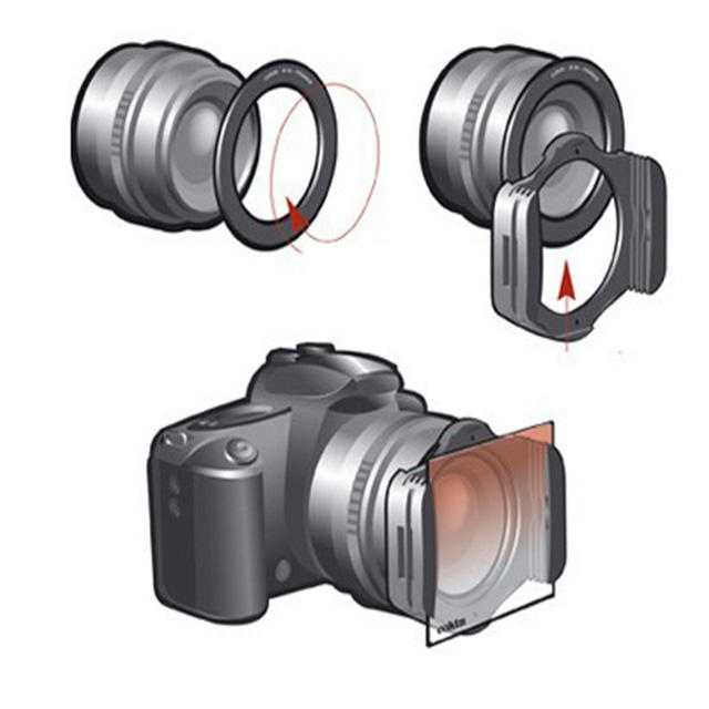 21in1 Set 11 pcs Platz Schrittweise ND Farbe filter kit + 9 metall Ringe + filter halter Für Cokin P serie <span class=keywords><strong>Kamera</strong></span>