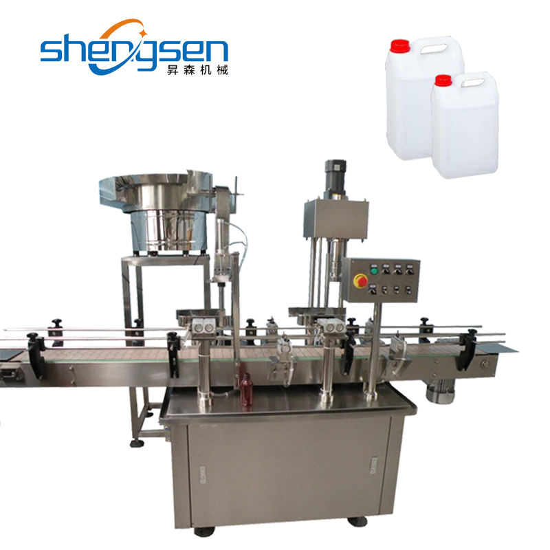 Custom Designed Large Bottle Cap Lid Automatic Capping Machine For Barrel
