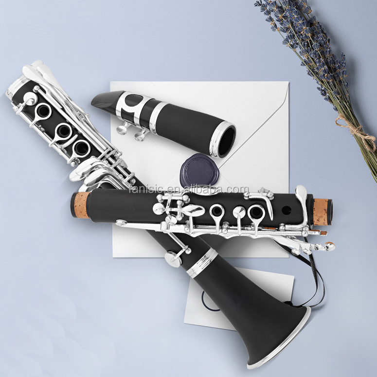 <span class=keywords><strong>Bb</strong></span> Key <span class=keywords><strong>18</strong></span> <span class=keywords><strong>Phím</strong></span> <span class=keywords><strong>Clarinet</strong></span> Cao Su Cứng