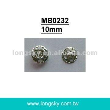 (#MB0232/10mm) sew on metal snap press button