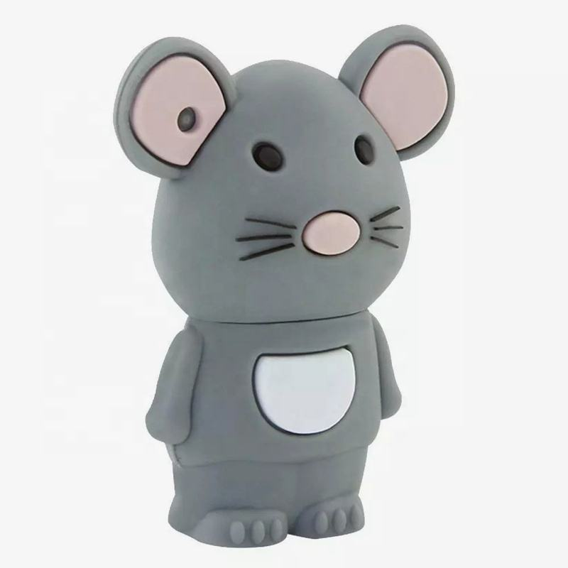 Custom Shell Cartoon Mouse and Cat Shape USB Flash Drives Cheap Price 1gb to 128gb Kids Gift USB