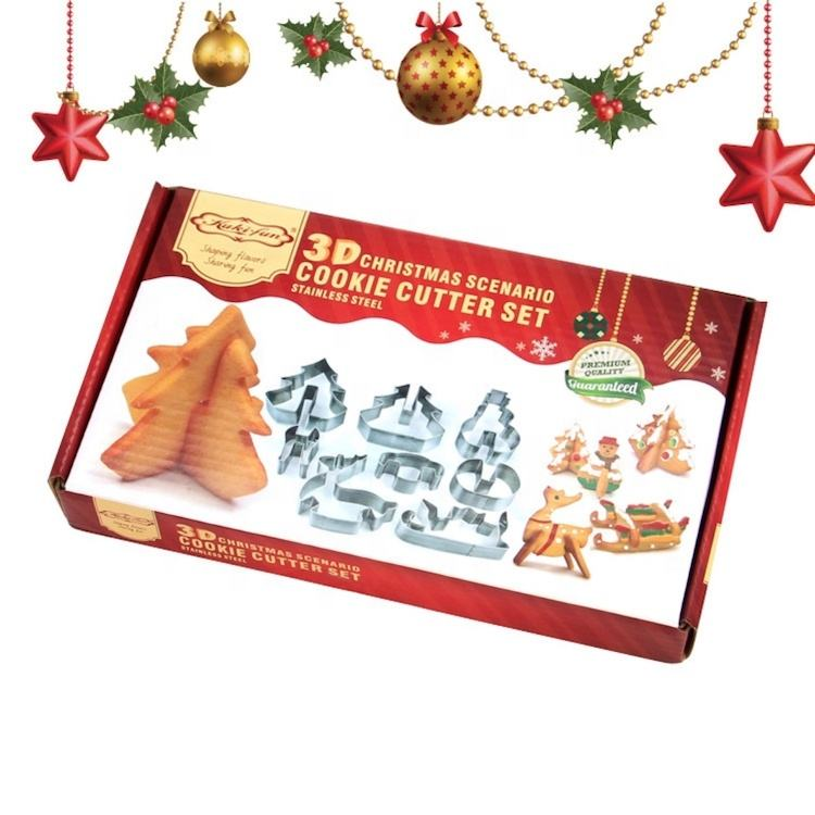 Christmas Scenario Cookie Cutter Set Of 8pcs SW-BS160