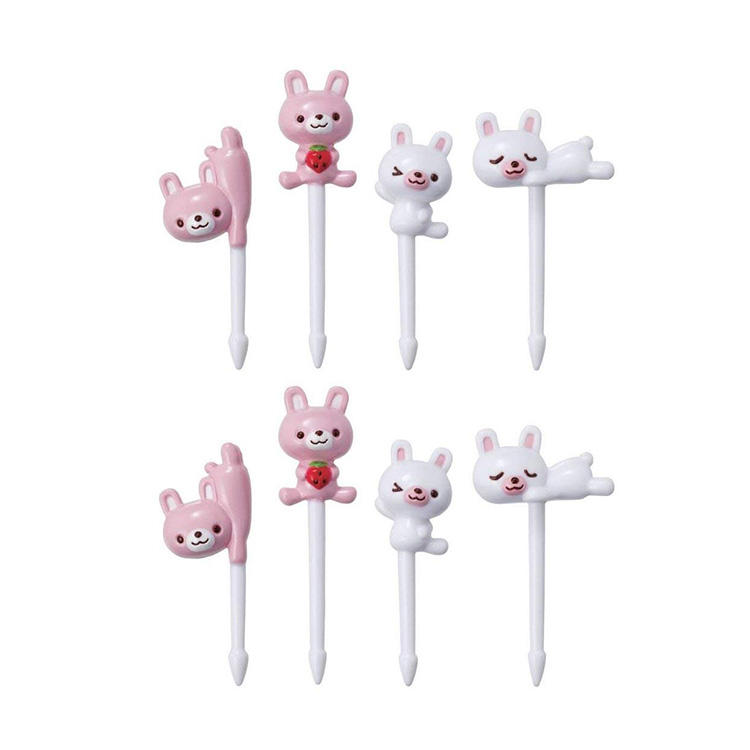 Bento 3D Food Pick, 8-Piece, Rabbit