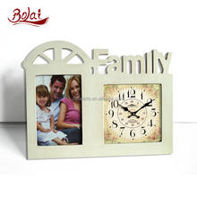 Beige Frame For Photo Home Desktop Clock