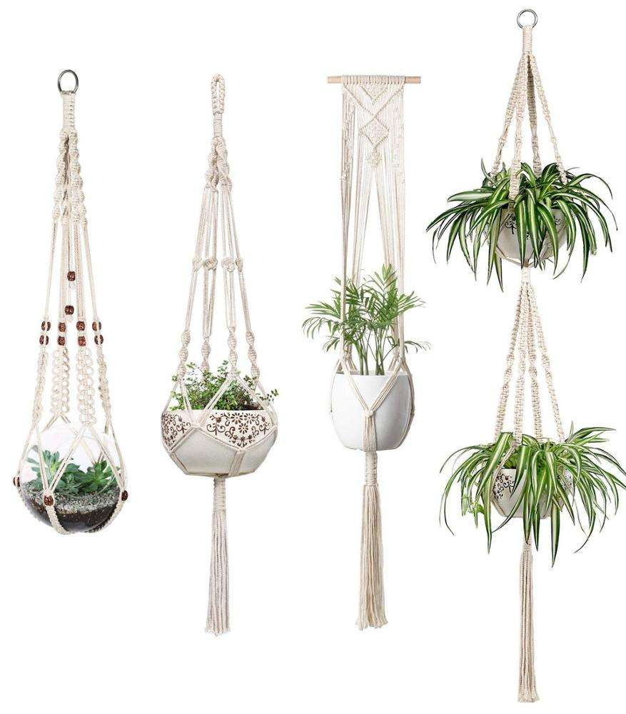 Home Decoration handmade cotton Macrame Plant Hanger Indoor Plant Hanger