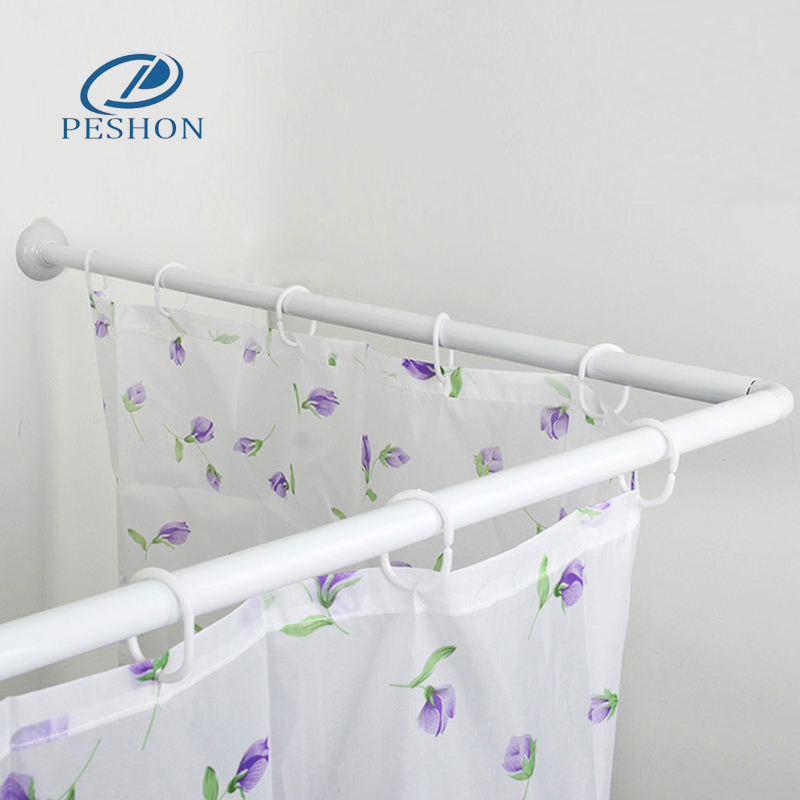 Well priced simple bathroom L shape stainless steel shower curtain rod