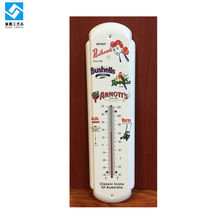 3d metal tin sign design indoor/outdoor thermometer