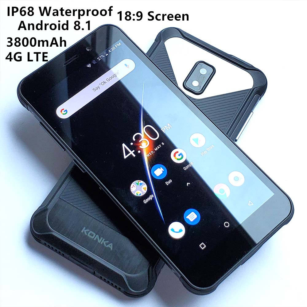 5.45 pollici ip68 impermeabile dropship smartphone octa core grande batteria android rugged 4g cellulare