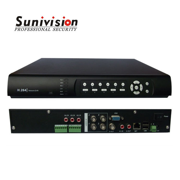 H.264 Network DVR 4CH Digital Video Recorder