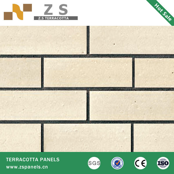 Terracotta tile clay tiles Curtain Wall System 60x240mm Wall Clay Brick Tiles