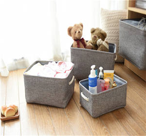 Most Popular Folding Stocked box fabric covered storage boxes with lids,hot sale personalized home linen storage bin