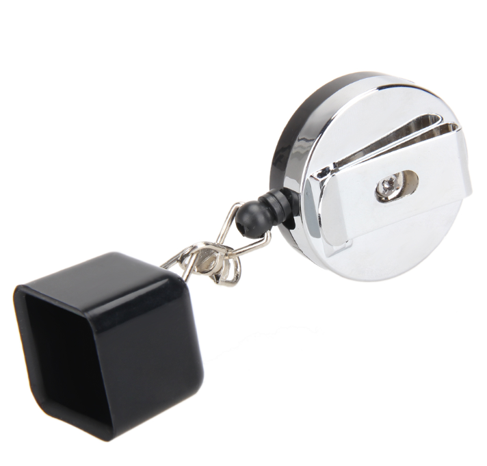 Billiards Pool Chalk Retractable Storage Container with Number 8 Keychain