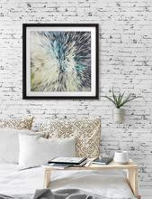 Geometric Abstract Wall Art Decorative Hanging Starburst Home decor Frame Art
