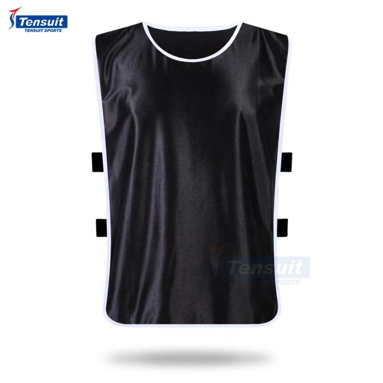 customize logo printing mesh training vest cheap football bibs reversible fighting soccer team vests