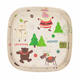 Merry Christmas Bamboo Fiber Square Plate,Bamboo Tableware,Bamboo Dinner Plate