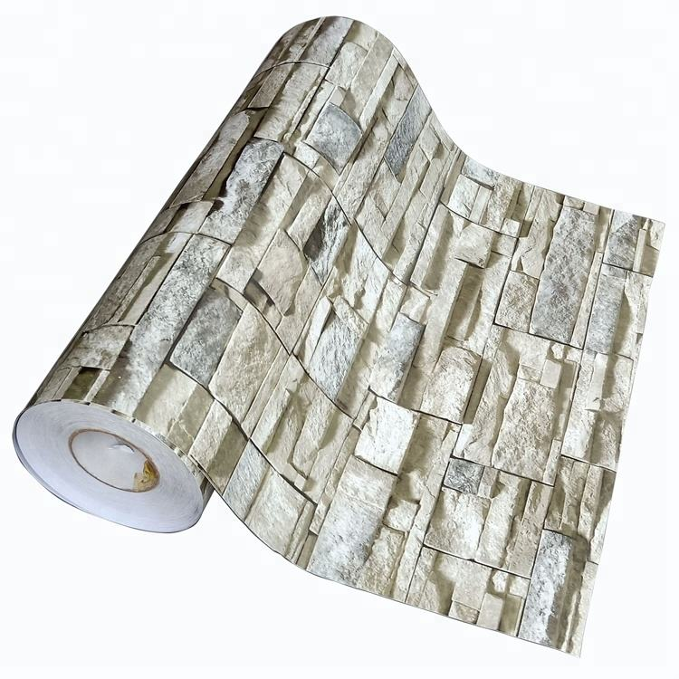 Hot Sale Home Decorative Stone Pattern Self Adhesive 3d Brick Wallpaper