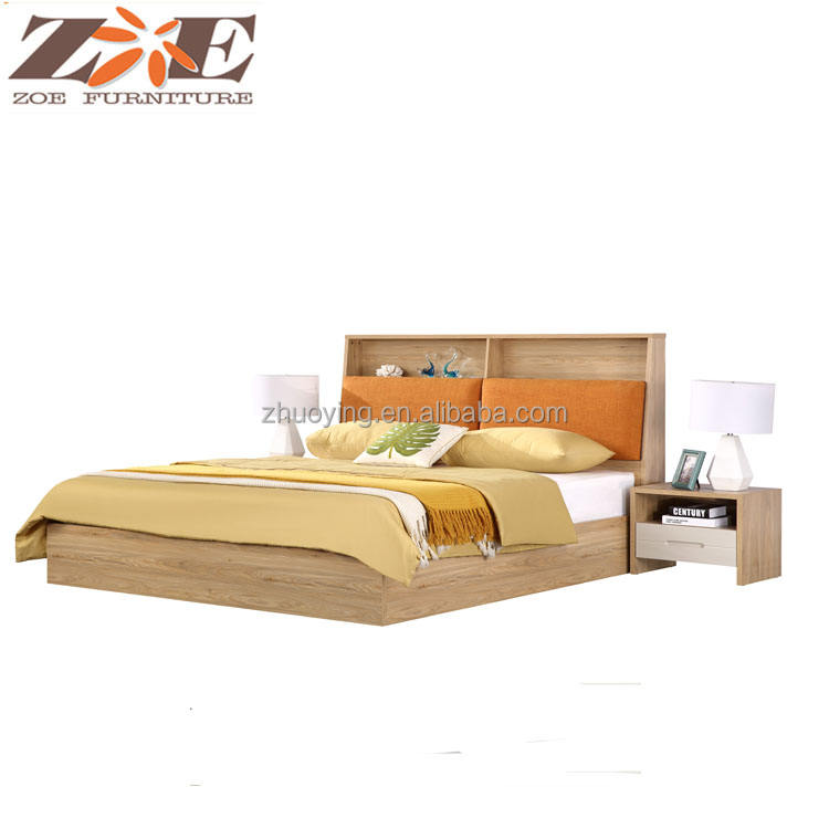 FoShan Shunde factory latest double bed designs,new model divan bed design,modern wooden hydraulic bedroom set