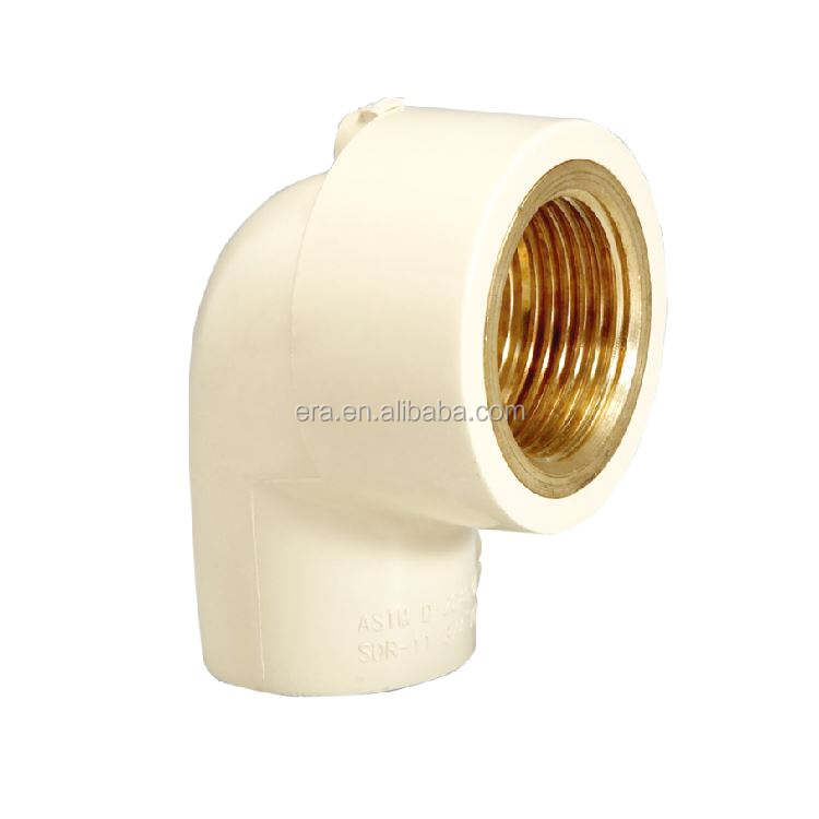ERA CPVC CTS Pipe Fitting Female Thread 90 Degree Elbow With Brass