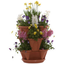 Tieredapproach Garden Planters pot Vertical Can be stacked flower pot