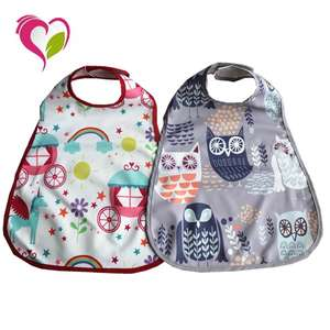 Hot Sale Customize Soft Polyester Washable Waterproof Baby Bibs