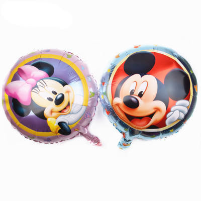 Kids toy 18 inch round Cartoon Mickey Mouse foil balloon