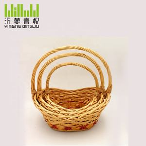 YM-8949603 wholesale 100% handmade new style wicker gift basket