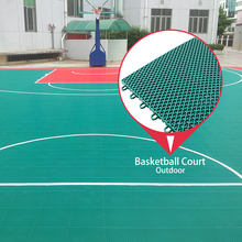 100% new pp synthetic material interlocking outdoor portable basketball court sports outdoor flooring