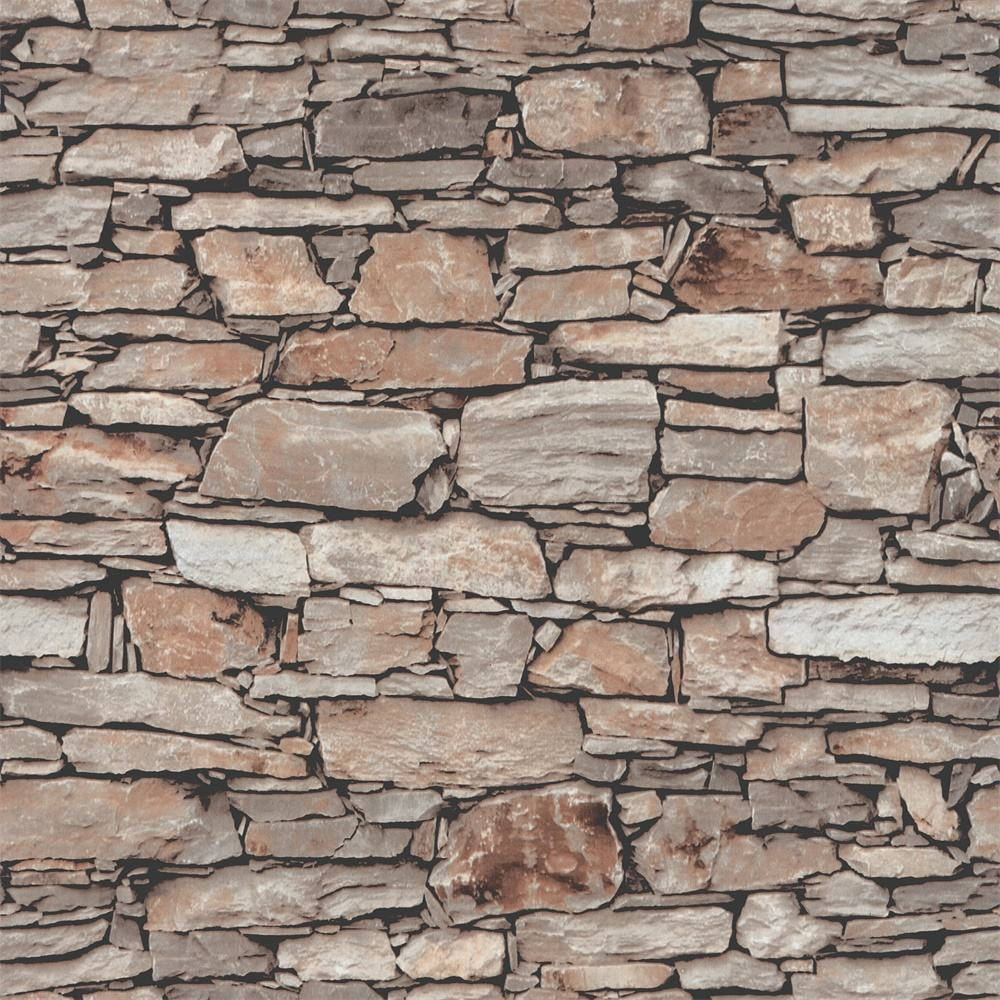5.3 square Popular High Quality Best price natural 3d stone brick wallpaper