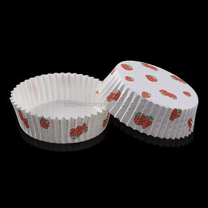 Round PET Coated Cup Cake Liners Disposable Paper Cup Cake Cases