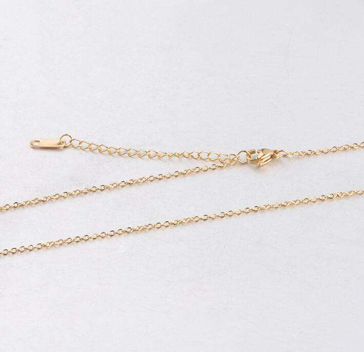 Stainless Steel 45cm+5cm Extender Chain with Tag 1.5mm Thickness Necklace Chain for DIY Necklace