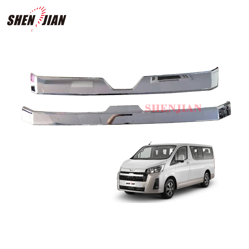 latest car accessories High thailand Quality chrome front trim for 2019 hiace