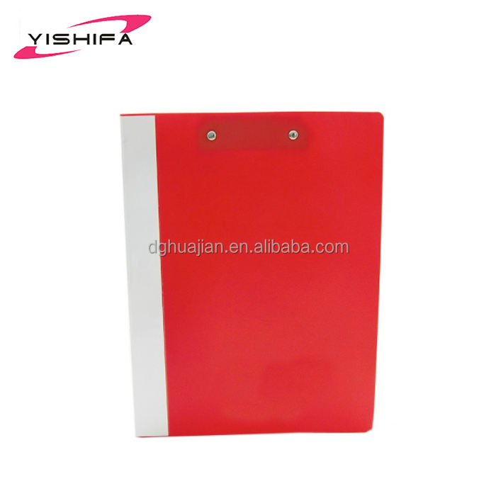 High quality business plastic clip file with high quality from Dongguan