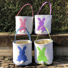 Wholesale Easter Decorations 2020 Easter Gift Bucket Personalized Canvas  Easter Basket