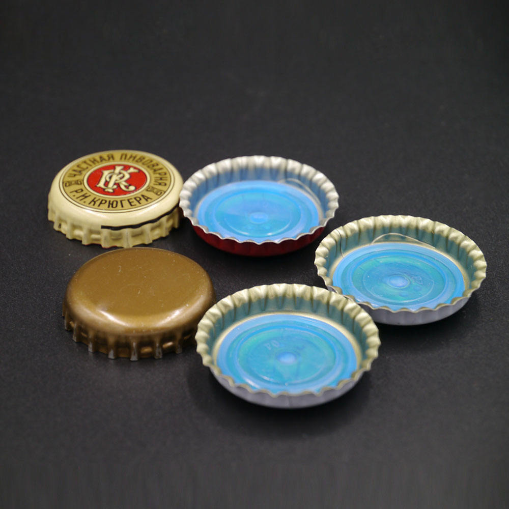 Wholesale cheap accepted custom printed glass beer bottle crown caps